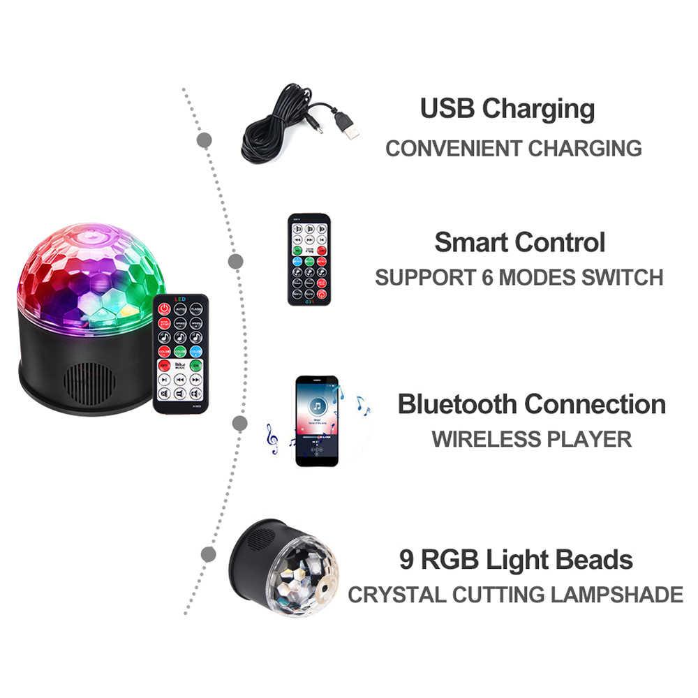 9 W RGB светодиодный дискошар свет bluetooth-динамик плеер DMX USB Рождество лазерный проектор сценический мигающий свет с удаленным Управление