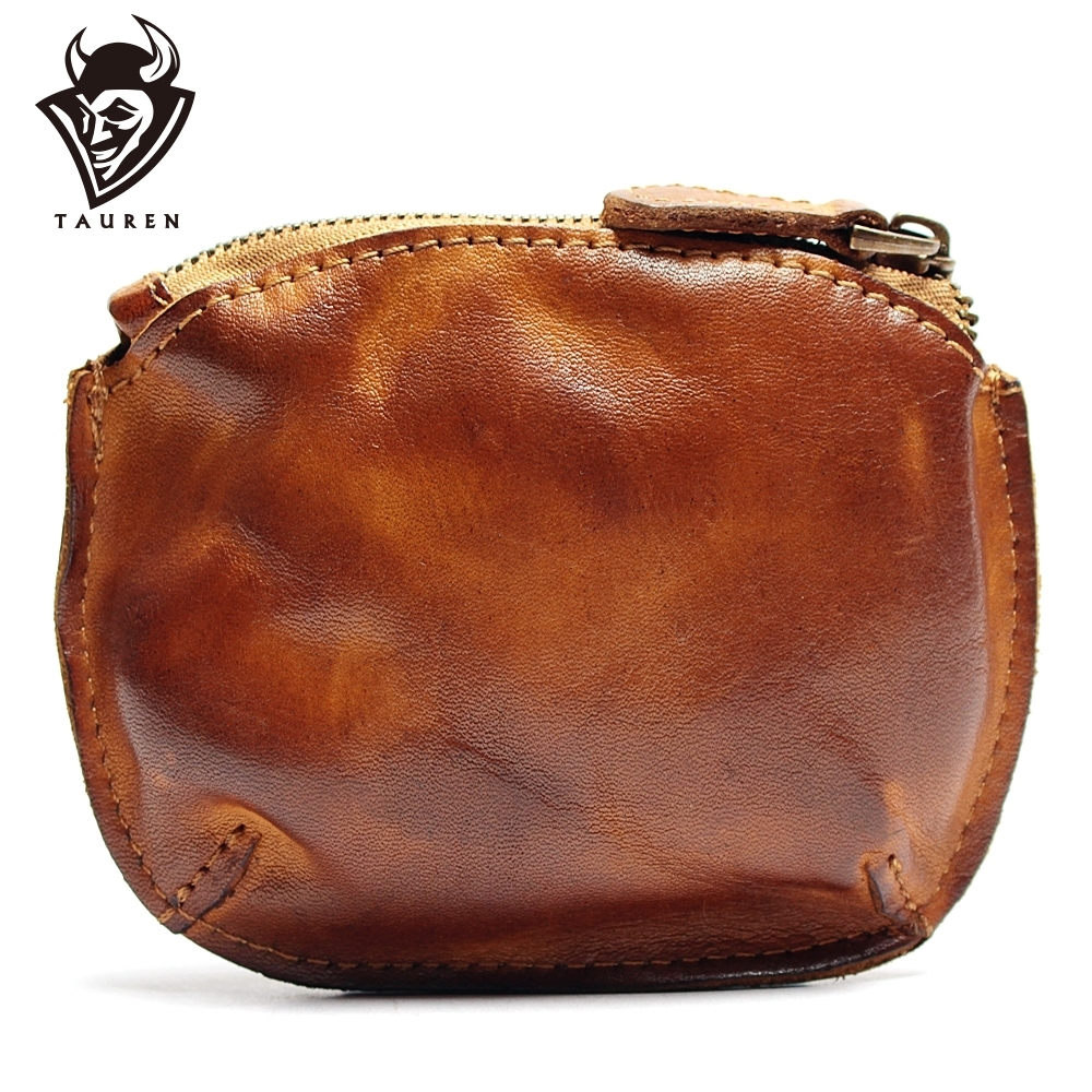 Genuine Leather Mini Wallet Fashion Small Purse Shell Silver Coin Bag Light Travel