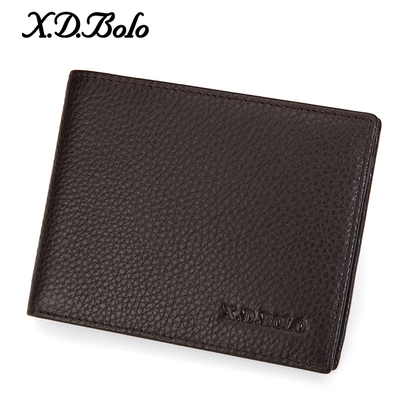 Men's Wallet Card-Holders Leather Purse Casual for Driver's XDBOLO