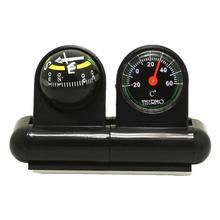 цена на Multi-Function Car Compass Guide Ball With Thermometer Vehicle Inclinometer Slope Measure Tool Interior Accessories