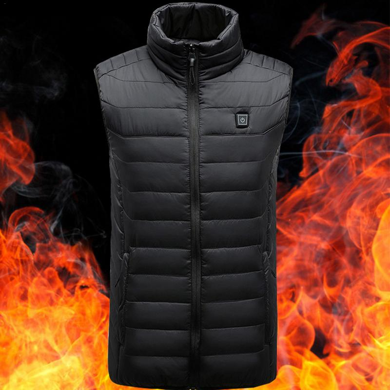 2018 For Men Women Sports Hiking Electric USB Heated Warm Vest Heating Coat Jacket Clothing Skiing Thermal Waistcoat Clothing