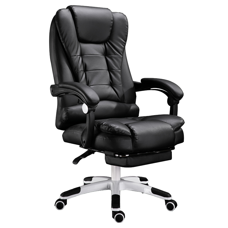 Купить с кэшбэком European Household Work In Office Can Lie Boss Massage Footrest Lift Swivel Main Sowing Genuine Art Chair You