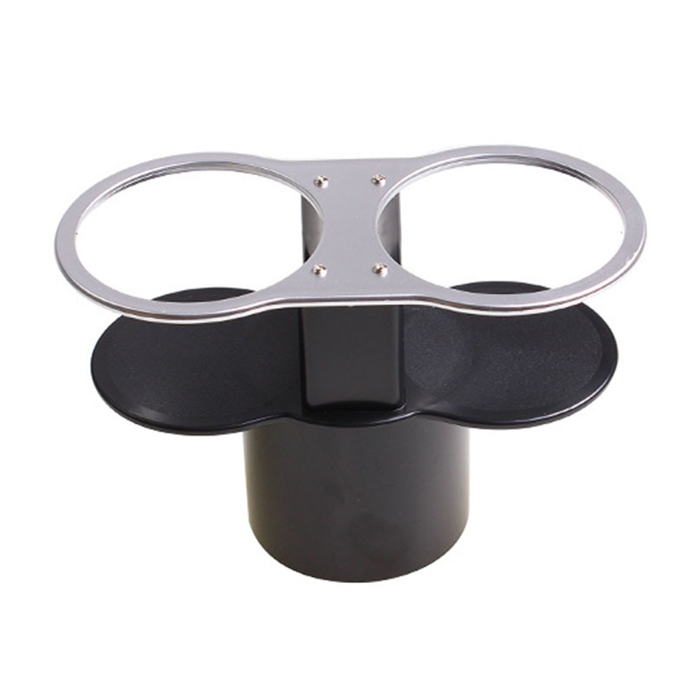 Car Cup Holder Plastic Lightweight Durable Double Hole Drinks Holders Mount Holders Cup Stands for Truck Auto Vehicle