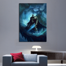 1 Piece Fantasy Art Game Poster Painting Lich King World of Warcraft Dragon Pictures Canvas Paintings Wall for Home Decor