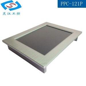 Image 5 - 12.1 cal bez wentylatora panel przemysłowy PC 4 * com tablet z ekranem dotykowym obsługa komputera PC windows xp/windows10 systemu