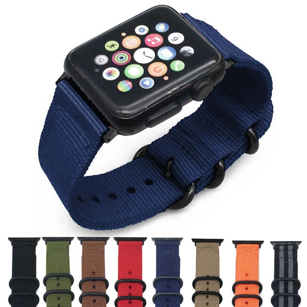 Woven Nylon band strap for apple watch band 42mm 44mm sport bracelet watchband for iwatch band 38mm 40mm 4/3/2/1 black redWoven Nylon band strap for apple watch band 42mm 44mm sport bracelet watchband for iwatch band 38mm 40mm 4/3/2/1 black red