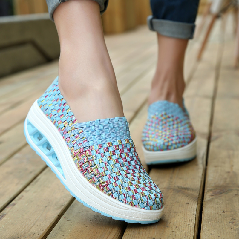 Sneakers Braided-Shoes Breathable Woman Female Fashion Hot Height Cool Increasing Zapatos