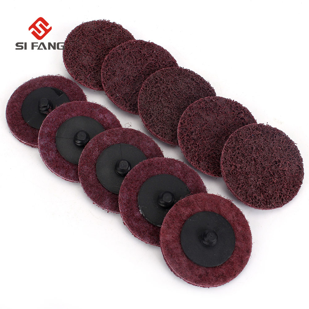 10pcs Roloc Type R Surface Polishing Conditioning Disc Sanding Disc Pads Lock Surface Sanding Disc For Metal Polishing Cleaning
