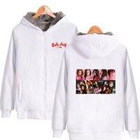 LUCKYFRIDAYF 2018 RED Velvet Print Hot Sale Long Sleeve Zipper Hoodies Sweatshirt Women Casual Kpops Clothes Pop Plus for 4XL