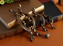 2 pcs Antique Bronze Drawer Pulls Handle 4 Styles Dresser Knob Rustic Droor Handles Decorative Cabinet