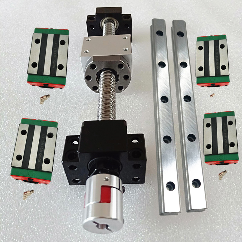 Cnc Kit Linear Guide Rail 20mm Linear Rail Guides HGR20 600mm 2pcs HGH20CA 4pcs SFU1605 600mm