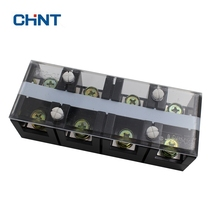 CHNT High Temperature Resistance Connection Terminal Row TC-604 Electric Current 60A 4P Connector TC604 Copper Paper