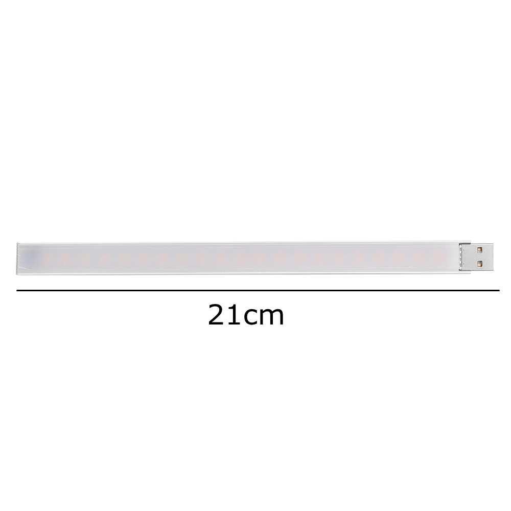 CLAITE 21 см 21 светодиодный жесткой полосы света USB 4,5 W SMD5730 T-ой выключатель бесступенчатое регулирование яркости светодиодный свет бар для ПК компьютер DC5V