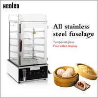XEOLEO électrique cuiseur vapeur Commercial chignon machine à vapeur en acier inoxydable alimentaire réchauffeur armoire 1200 W nourriture vapeur machine 110 degre