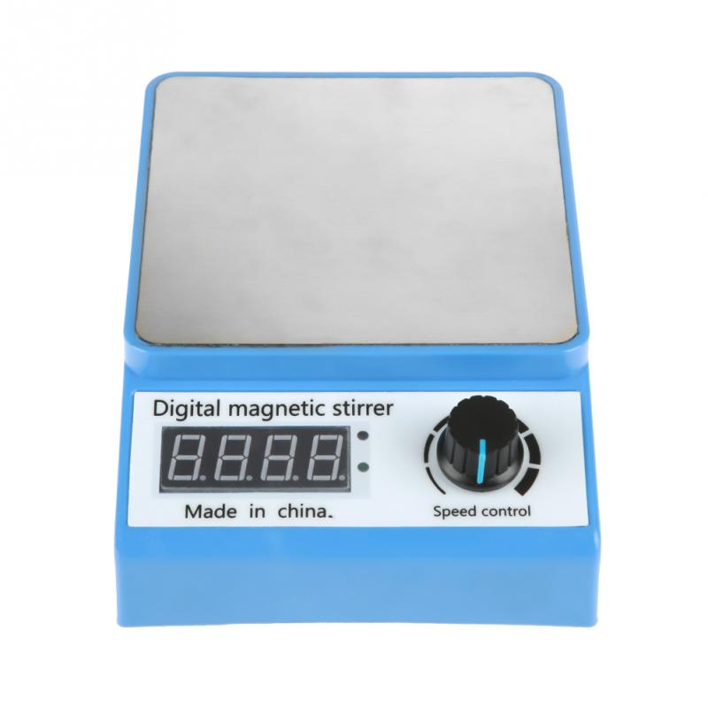 ZGCJ 3A Portable Magnetic Laboratory Stirrer Mixer Plate Control Digital Magnetic Stirrer 0 3000RPM US Plug
