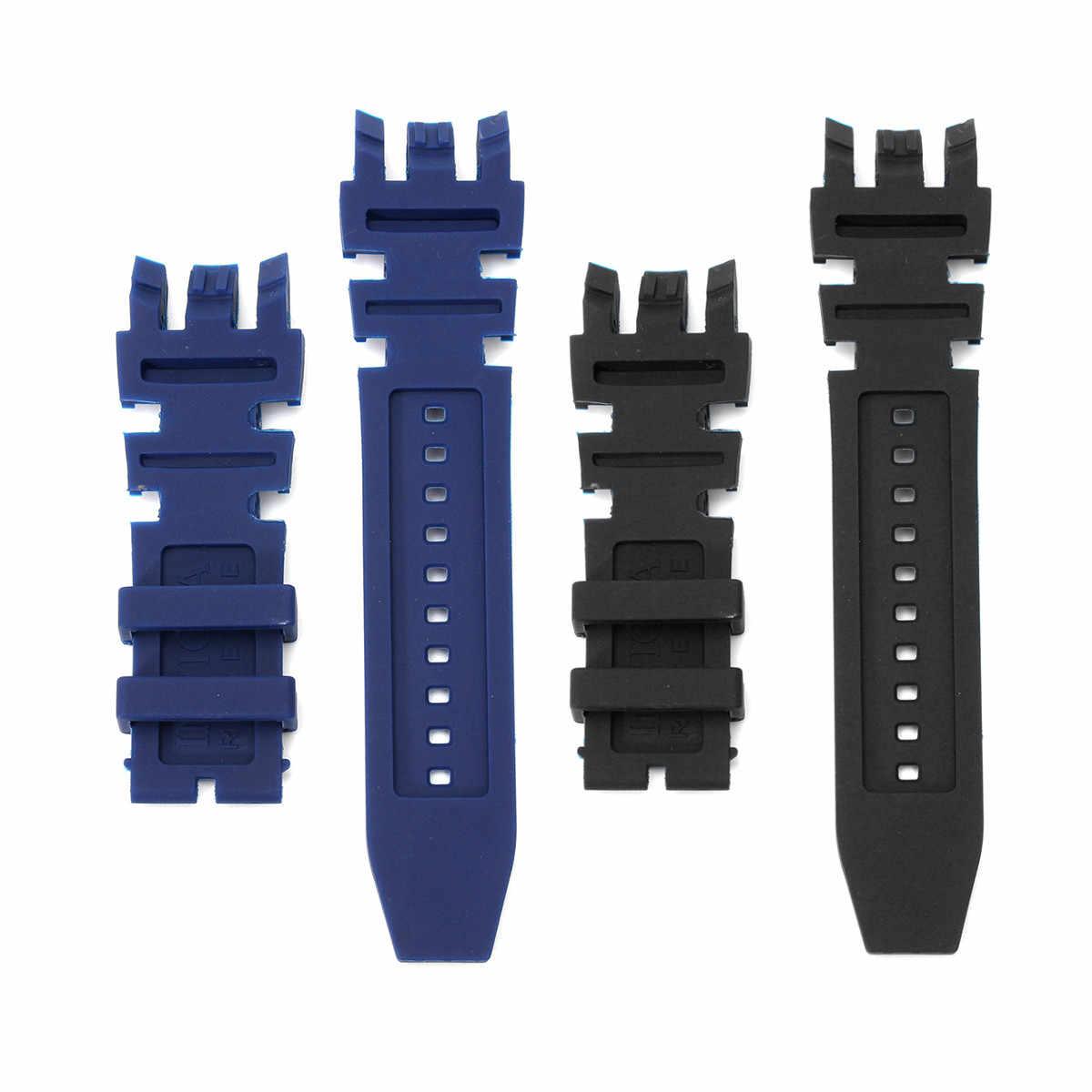Nuevo Kit de banda de reloj de goma de silicona azul negro para Invicta Subaqua reserva analógica Diver correa de repuesto reloj de hombre