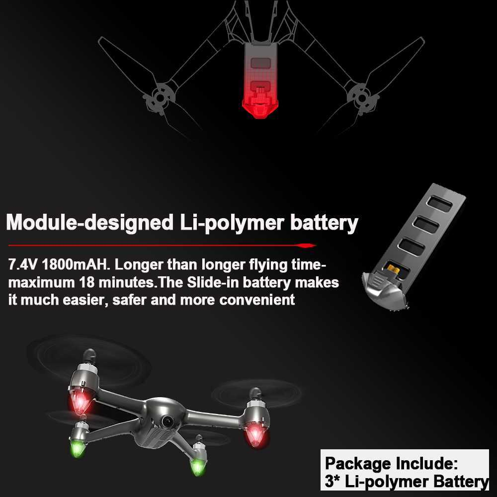 Image 5 - MJX B2SE GPS Brushless Motor RC Drone 1080P HD Camera 5G WiFi FPV Precise GPS Altitude Hold Smart Flight RC Quadcopter VS B5W-in RC Helicopters from Toys & Hobbies