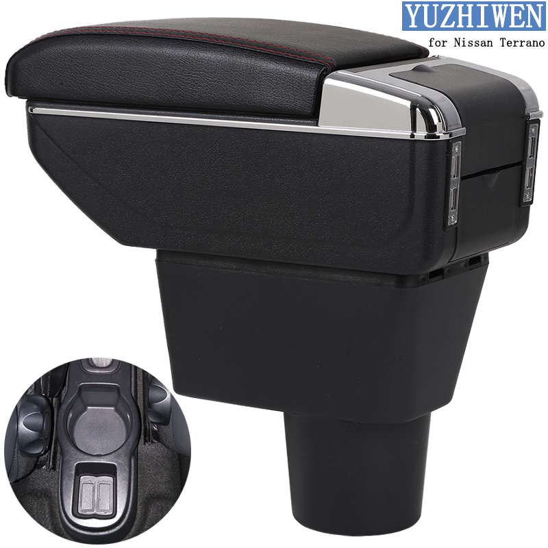 For Nissan Terrano Armrest Box Terrano 3 Universal Car Central Armrest Storage Box Cup Holder Ashtray Modification Accessories