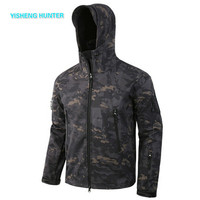 2019 NEW Softshell V5 Military Tactical Jacket Men Waterproof Coat Camouflage Hooded Army Camo Clothing