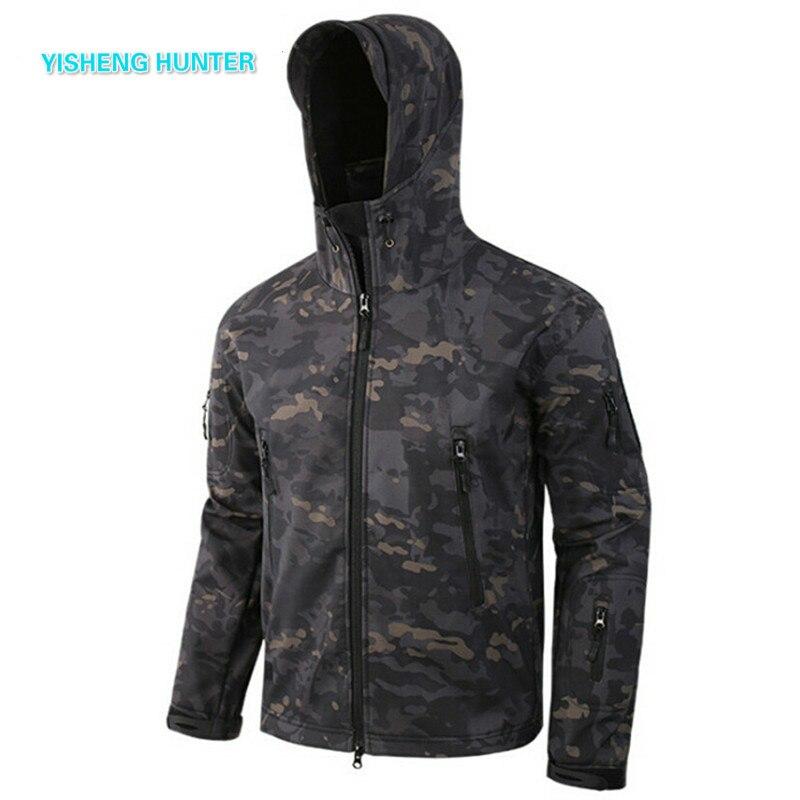 2019 nouveau Softshell V5 militaire tactique veste hommes imperméable manteau Camouflage à capuche armée Camo vêtements