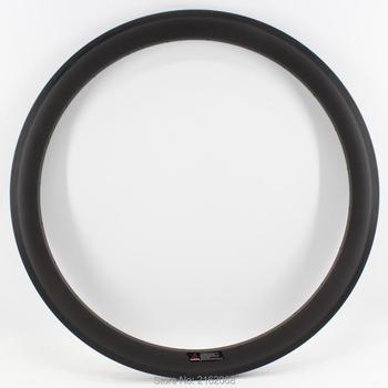 1 Uds nuevo 700C 50mm llanta para cubierta bicicleta de carretera acabado mate UD de fibra de carbono completa sets ruedas de bicicleta llantas 20,5 23 25mm de ancho envío gratis