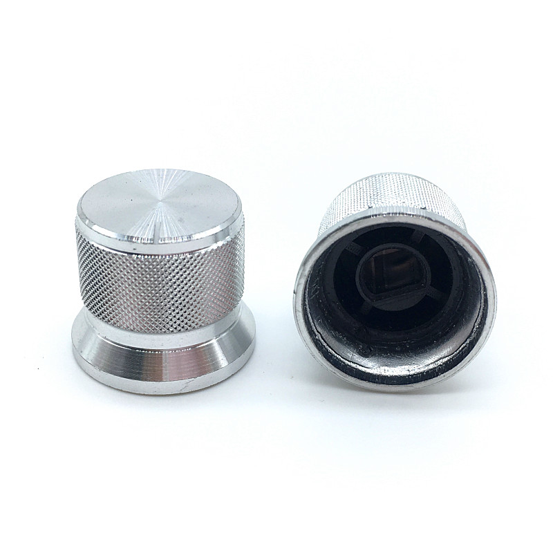 2pcs Roatry Encoder Switch Caps Potentiometer Aluminum Alloy Knob 20x17mm Half Shaft Type