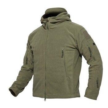 HEWOLF táctica militar al aire libre suave de lana chaqueta hombres  chaqueta ejército ropa térmica caza e9d2e1348fc
