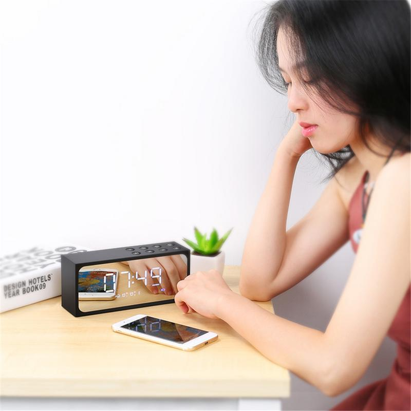 Image 5 - Портативный динамик беспроводной Bluetooth плеер 3D стерео HD звук объемный домашний выход миниатюрные устройства сигнализация с микрофоном громкой связи-in Портативные колонки from Бытовая электроника