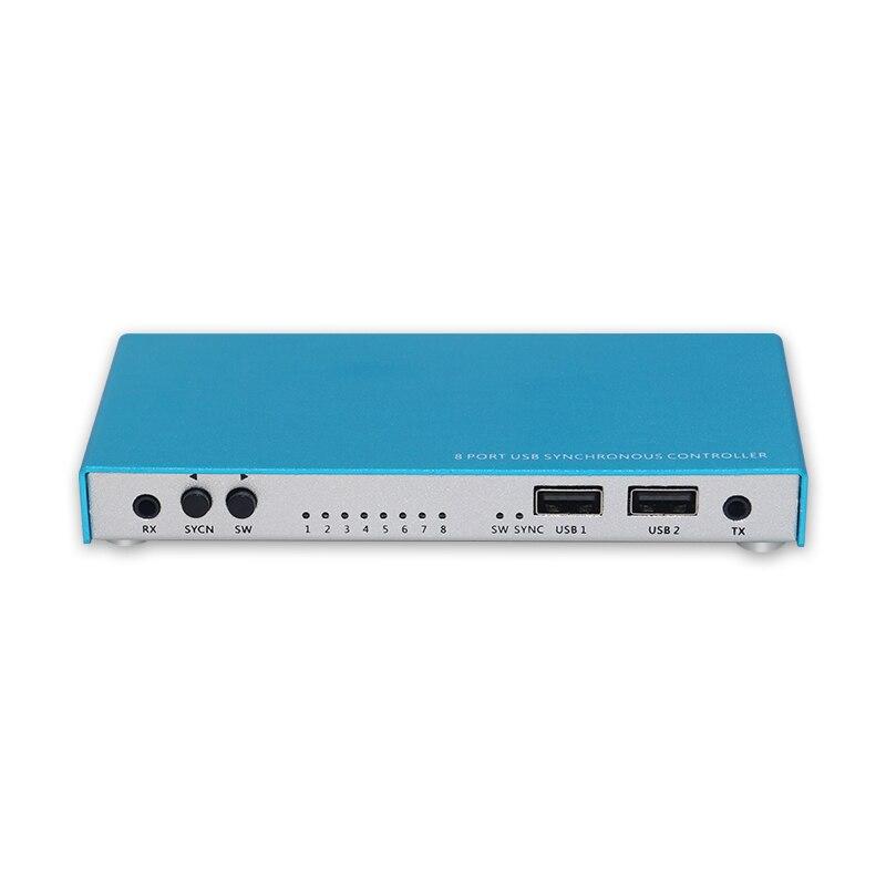 Contrôleur synchrone de souris de clavier d'usb de synchroniseur de 8 ports pour le contrôle Multiple de jeu de Pc
