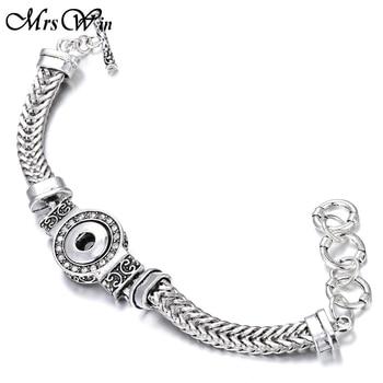 Jewelry 12mm Snap Button Bracelet for Women or Men