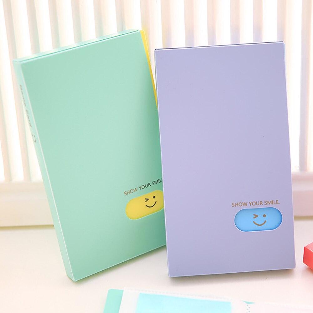 Nouveau Portable 120 poches Album Photo BTS/EXO/GOT7 Lomo carte Photocard nom de la carte ID titulaire étudiant bureau nom carte