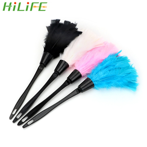 HILIFE For Furniture Car Clean Soft Turkey Feather Duster 4 Colors Household Home Cleaning Tools Long Handle Dust Brush