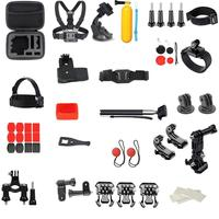 58pcs Suit For Kinds of Scenes Action Sports Cameras Floating Handle Tripod Adapter Screws Chest Strap Kits Set Accessories