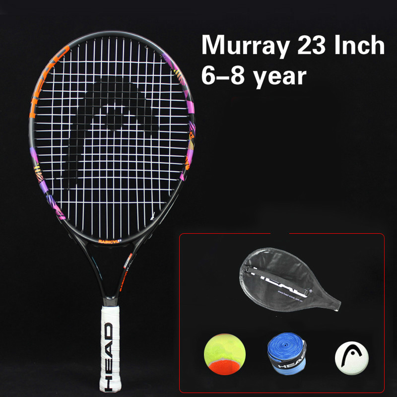 Head 21 23 25 Inch Junior Carbon Fiber Tennis Racquet for Kids Youth Childrens Murray Training