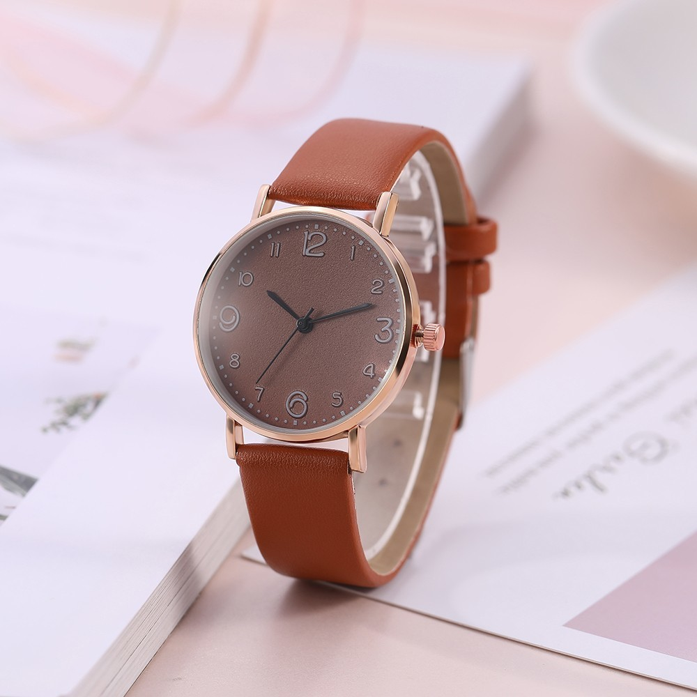 Top Style Fashion Women's Luxury Leather Band Analog Quartz Wrist Watch Golden Ladies Watch Women Dress Reloj Mujer Black Clock 3