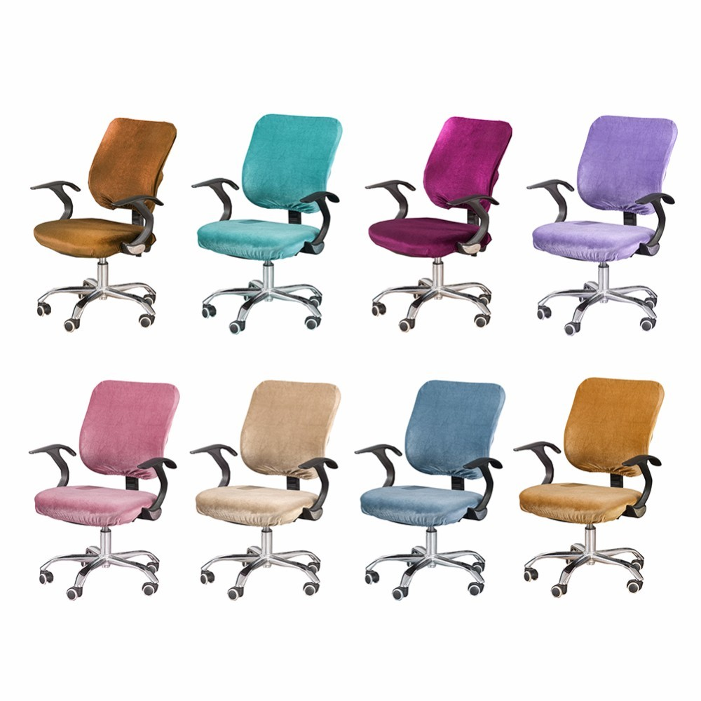 Multicolour Removable Computer Office Chair Covers Desk Chairs Slipcover Stretch