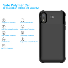 CASEWIN Power Bank Battery Charger For iPhone XS Max Case 5500mAh External Backup Battery Charging Case With LED Indicator