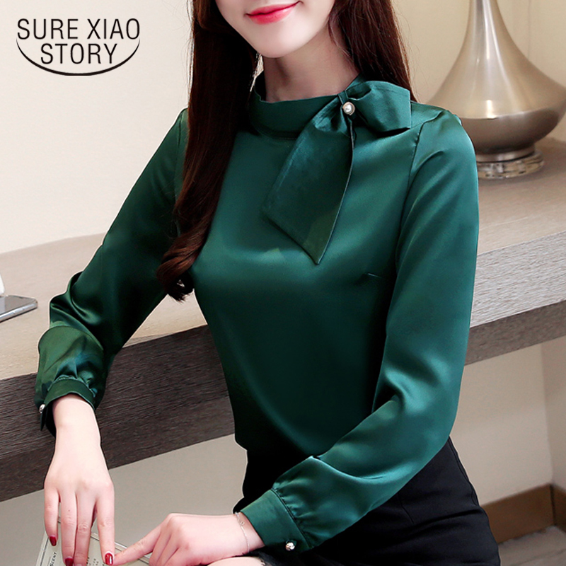 Spring 2019 white   blouse   office work wear long sleeve women   shirts   fashion chiffon   blouse     shirt   womens tops and   blouses   2223 50