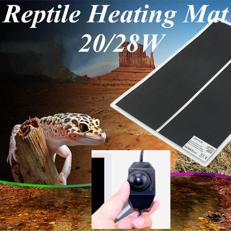 5-45W Climbing Pet Heating Warm Pad Adjustable Temperature Controller Incubator Mat Tools Terrarium Reptiles Heat Mat