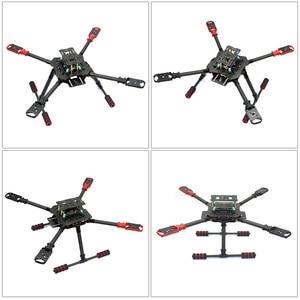 Image 4 - 10CH 2,4 Ghz X4 460mm 560mm Dach Gefaltet RC Quadcopter 4 Achse ARF RTF Unassemble DIY GPS drone APM PIX w/ Gimbal FPV Upgrade