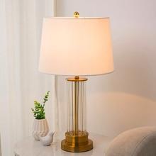 Nordic LED Deak Lamp Glass Table Bedroom Bedside Decorative Lights Desk Wedding Room Fixtures