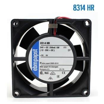 For Ebm-papst 8314HR 8314 HR  DC 24V 6W 80x80x32mm 2-wires Server Square Cooling Fan