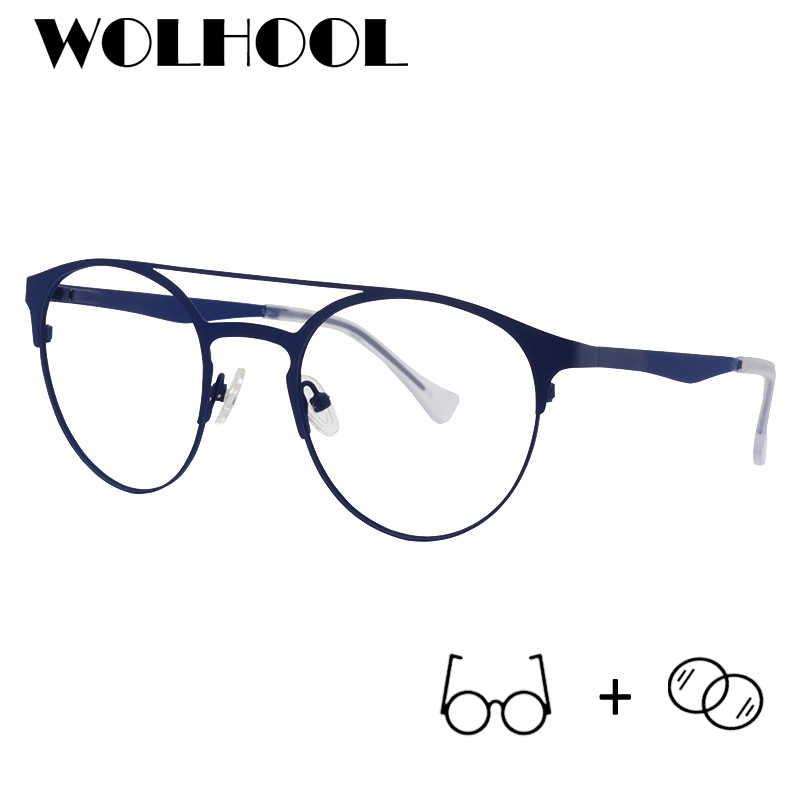 Klassische Blue Oculos Gläser Myopie Rahmen Ray 03 Männer Brillen Brücke 06 Pilot Metall Computer Doppel Anti Optische BRTRwqxU