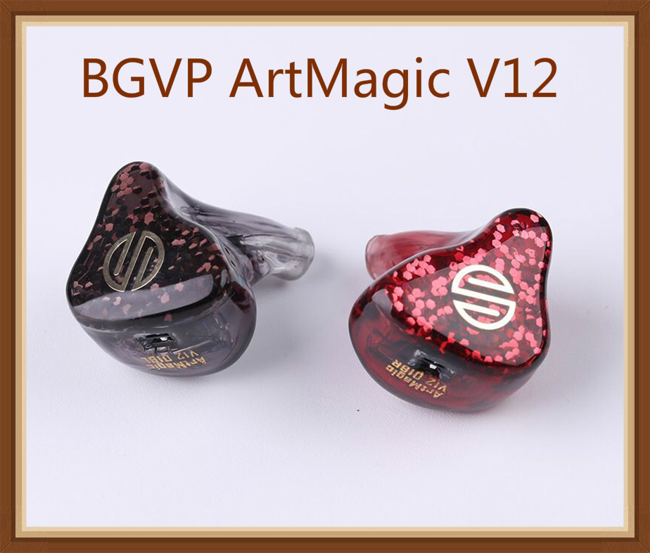 BGVP ArtMagic V12 12 Balanced Armature Driver In Ear Earphone HiFi Audiphile Monitor 0.78mm 2Pin Cable Custom IEM 12BA Earbuds