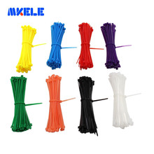 CE UL ROHS Self-locking Nylon Plastic Cable Tie Zip Wire 3*100mm 100pcs/bag 8 Colors 66 Fasten Wrap Strap