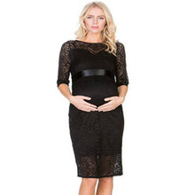 Lace Hollow In Sleeves New Belt Pregnant