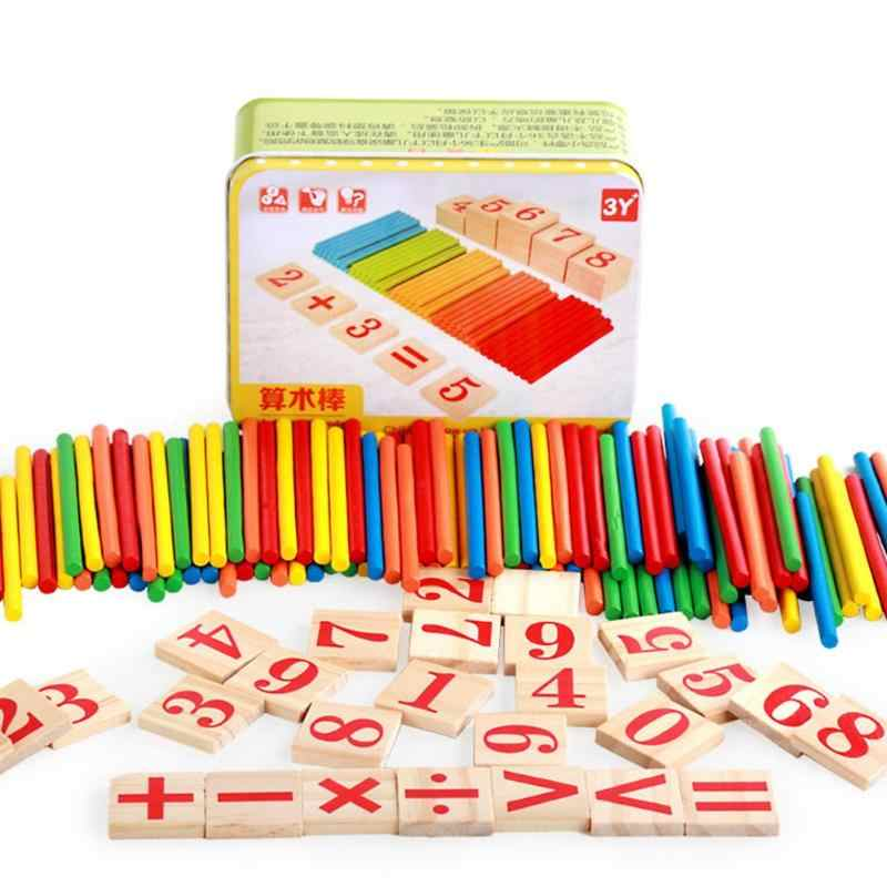ของเล่นไม้เด็กคณิตศาสตร์เกม Stick คณิตศาสตร์ตัวเลขแท่งนับนับ Sticks ของเล่น