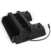 Multi function cooling Fan base Bracket+2 USB Charging Station for PS4/Slim/Pro