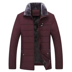 Image 4 - Parka épaisse matelassée en coton pour hommes, veste dhiver classique pour hommes, veste longue matelassée en polaire, vêtements décontracté