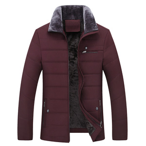 Image 4 - Thick Jacket Quilted Business Cotton Warm Parka Winter Men Casual Male Classic Windbreaker Long Fleece Lined Padded Coat Clothes